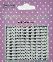 Metallic Nail Sticker Marguerites Silver