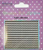 Metallic Nail Sticker Stars Gold