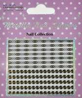 Metallic Nail Sticker Spirals Gold