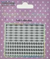 Metallic Nail Sticker Spirals Silver