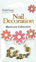Nail Decoration Inlay Noten gold/clear
